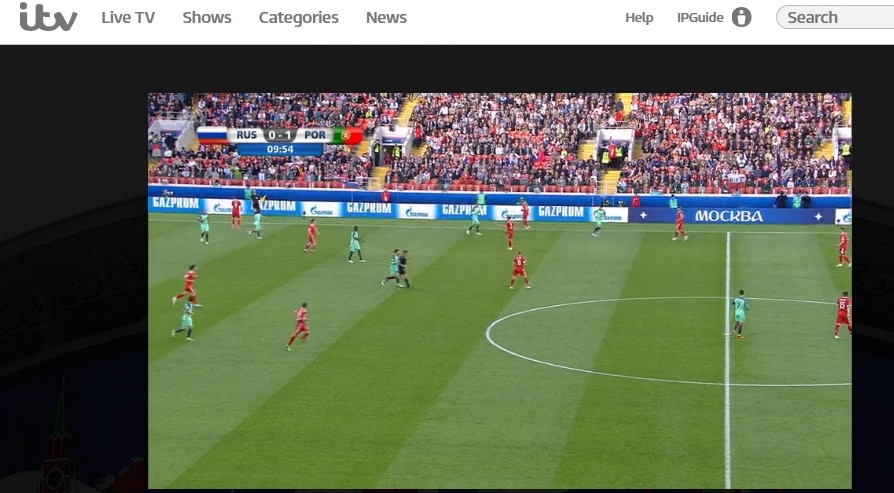 Watching the Confederation Cup on ITV