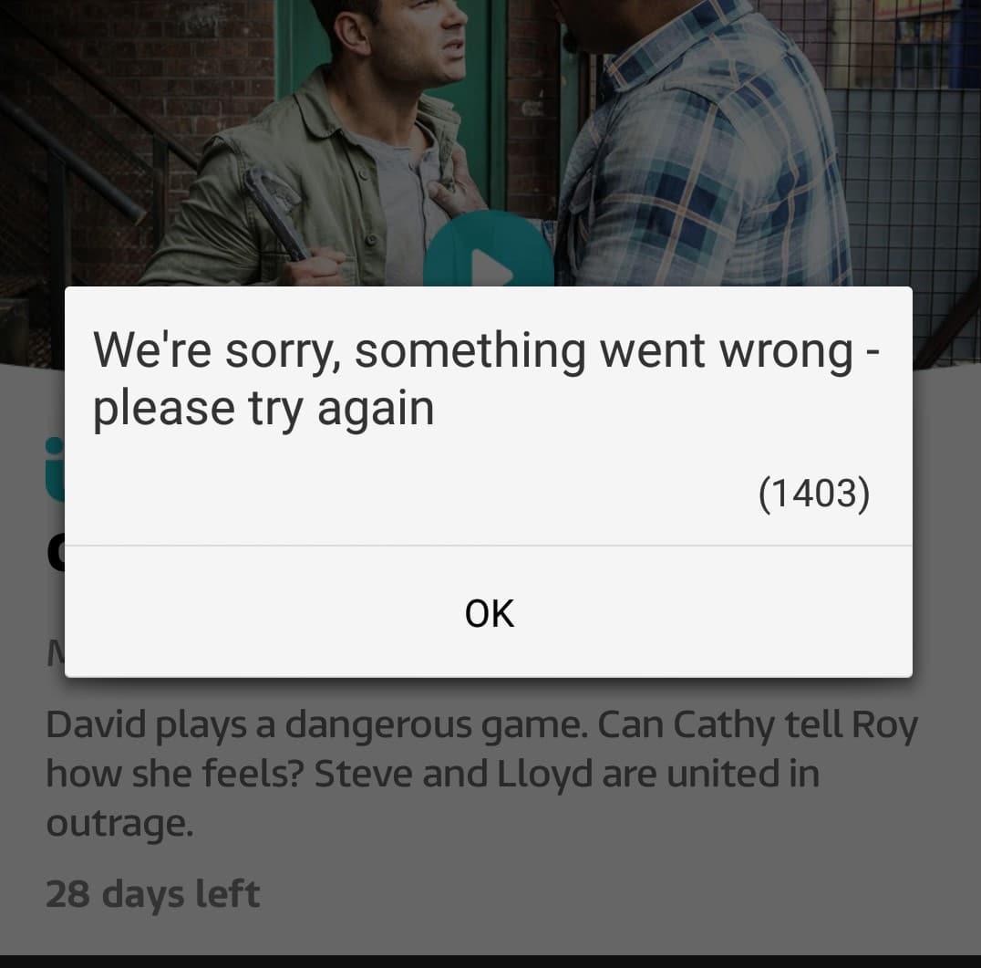 Error 1403 ITV Help